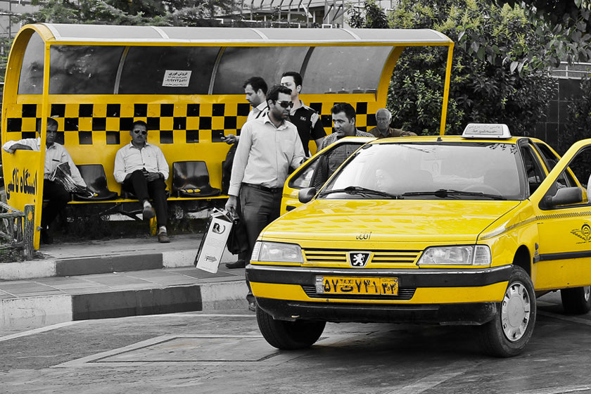 tehran taxi, public transportation in Tehran